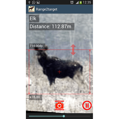 Range to Target 200m