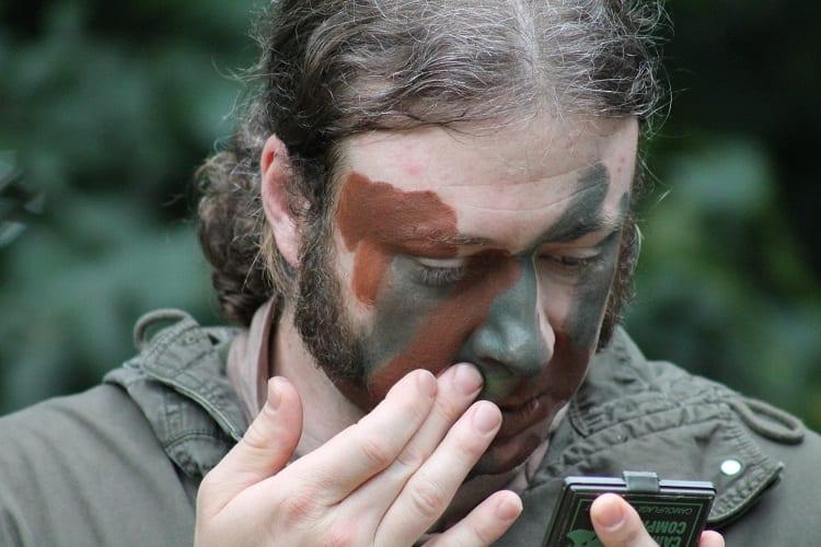 DIY Camo Face Paint
