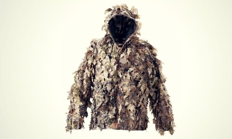 Hunting Jacket With Camo Leaves