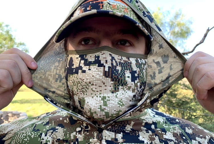 Man Wearing Camo Mask
