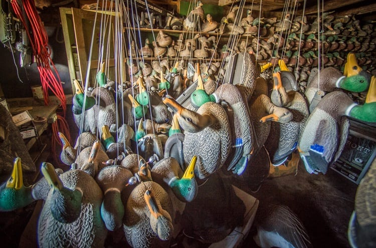 Duck Decoys In Warehouse