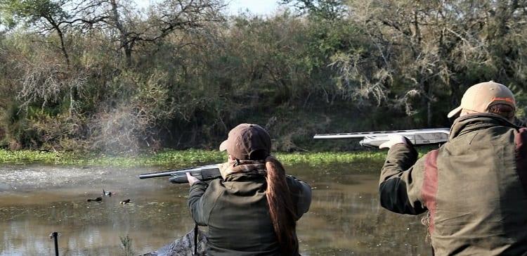 Shooting On Ducks In Water