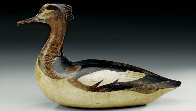 Red-Breasted Merganser Hen Carving