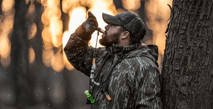 Hunter Using Duck Call
