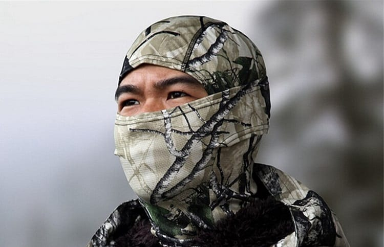 Man Wearing Winter Face Mask