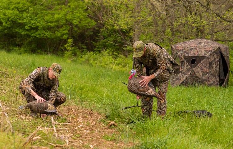 setup for turkey hunt