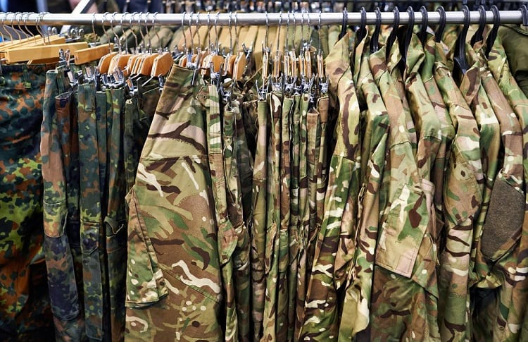 stored shirts for hunting