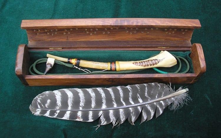turkey caller made of wing bone