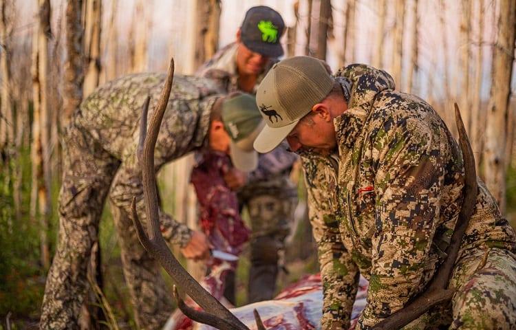 hunters skinning deer